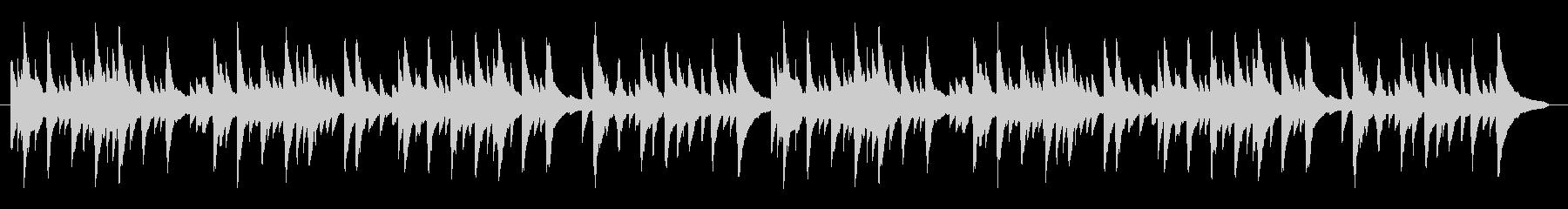 素朴でちょっとつたないソロピアノの未再生の波形