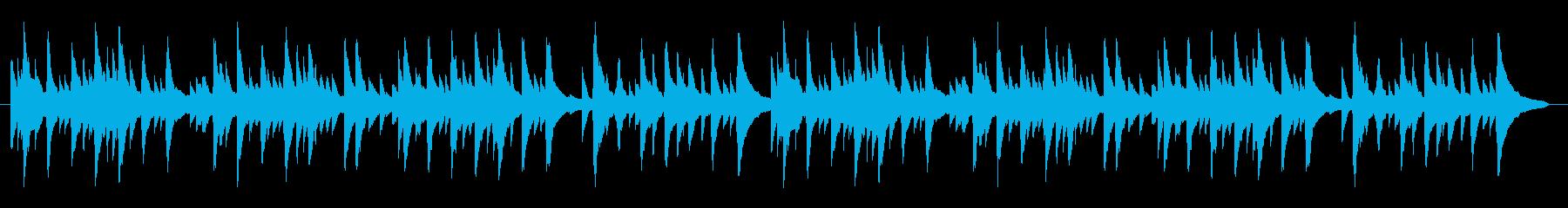 素朴でちょっとつたないソロピアノの再生済みの波形