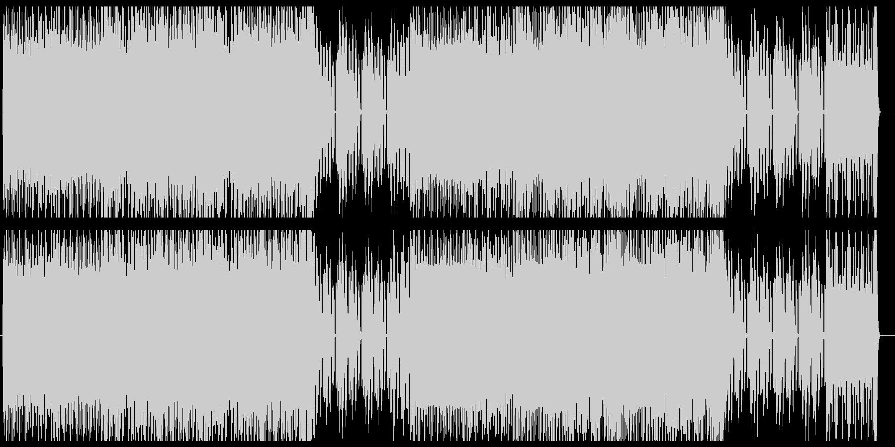 シンセサイザーによる80年代風ポップスの未再生の波形