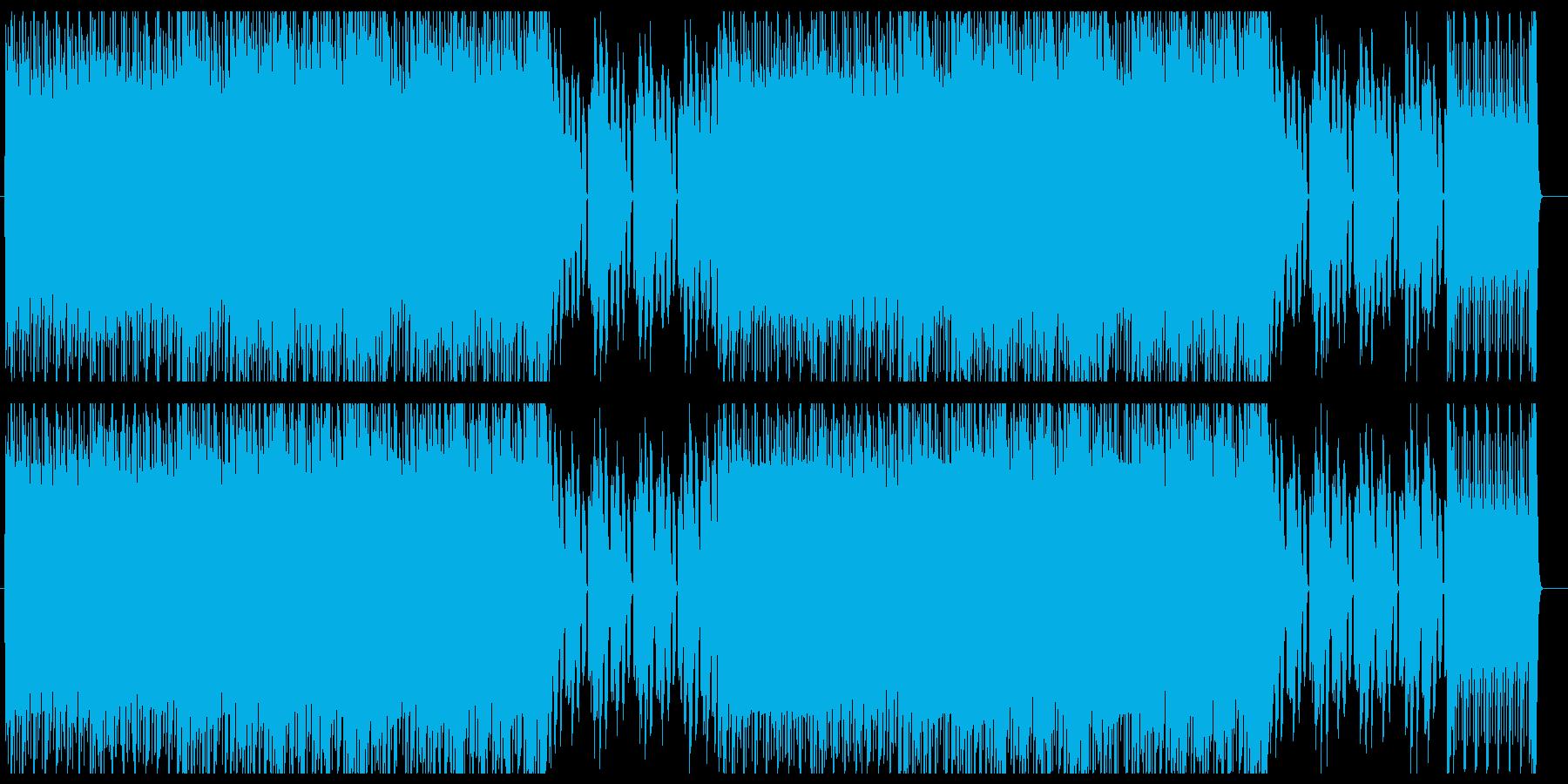 シンセサイザーによる80年代風ポップスの再生済みの波形