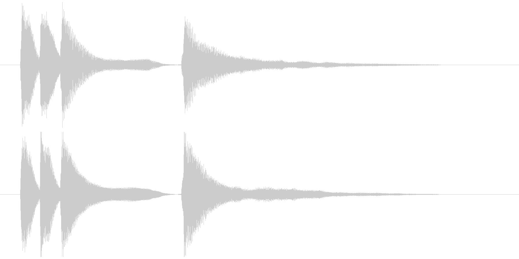 軽やかなイメージのピアノジングルの未再生の波形