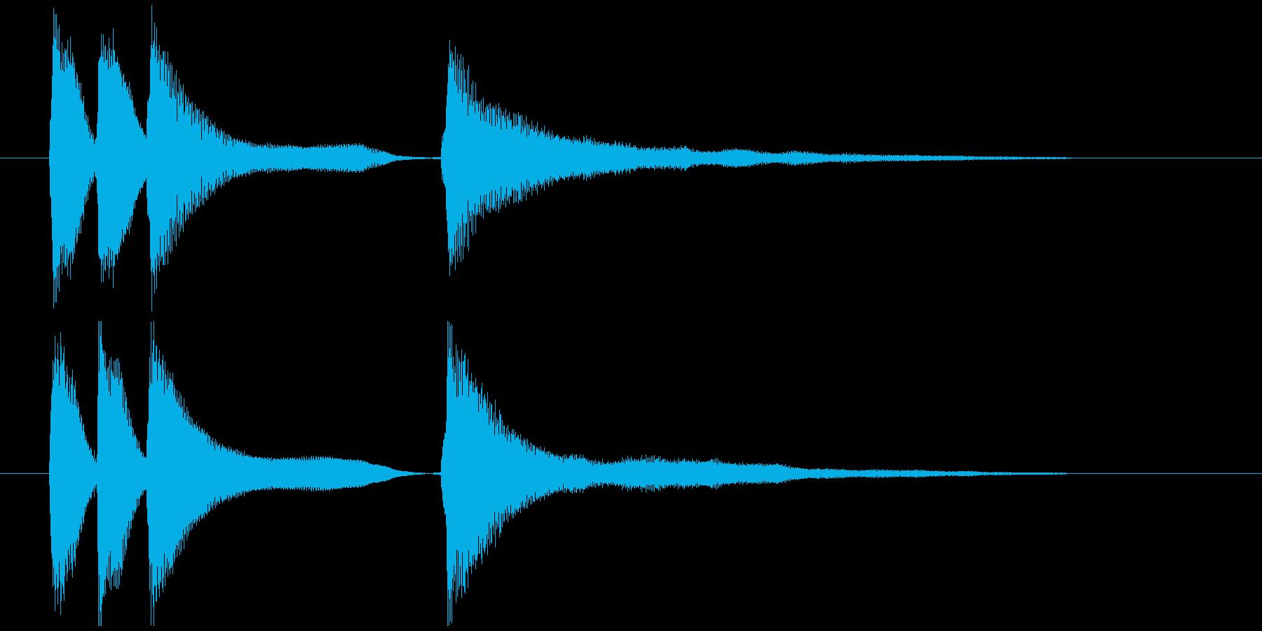 軽やかなイメージのピアノジングルの再生済みの波形