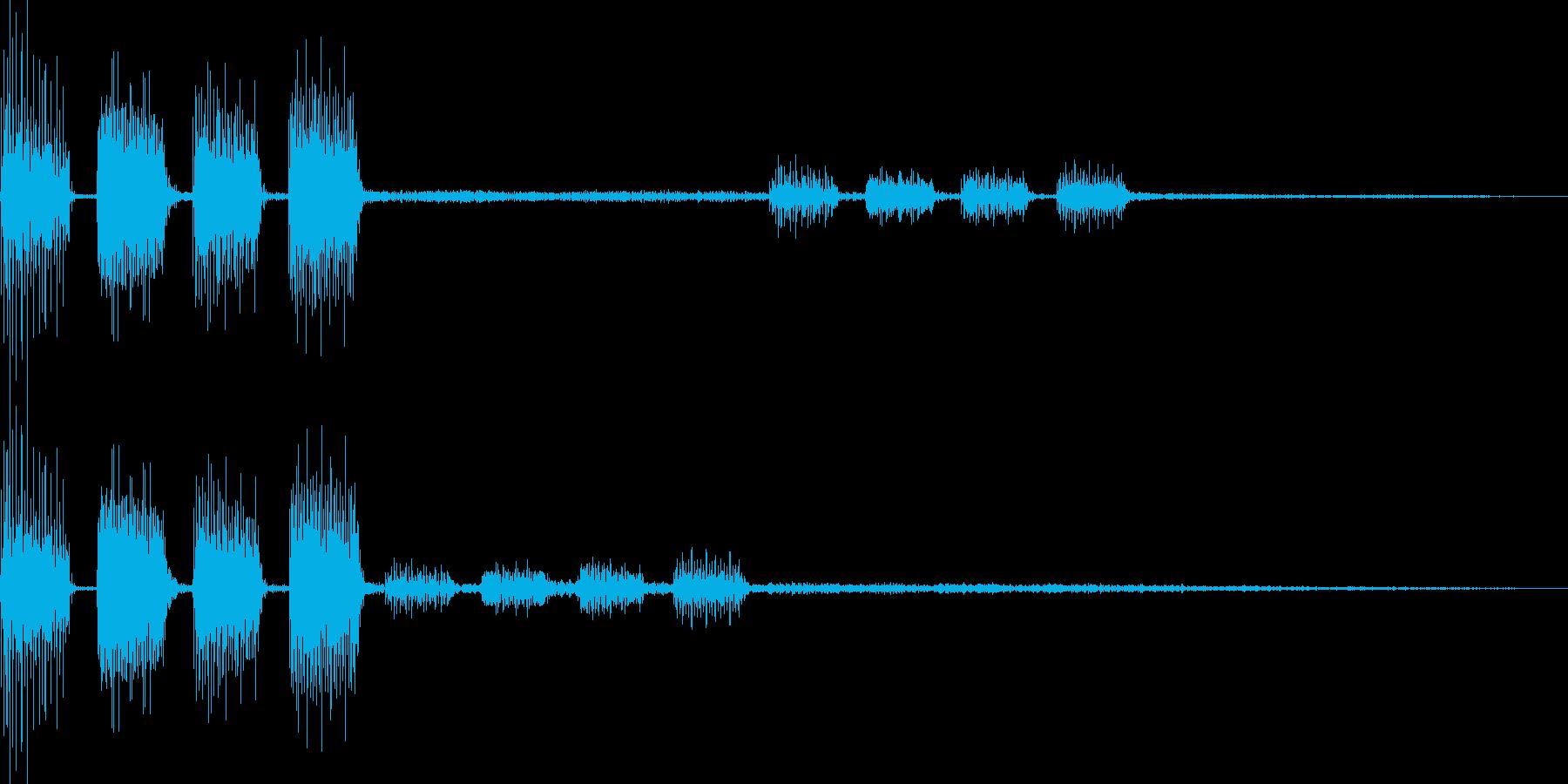 テロリラ(決定、アイテム、場面転換)の再生済みの波形
