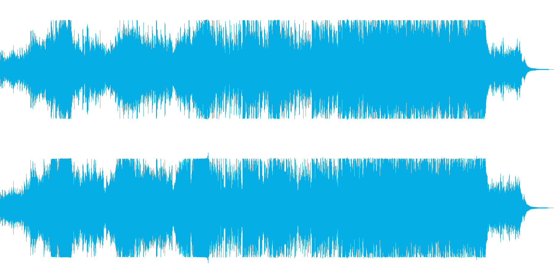 神秘的で力強いオーケストラの再生済みの波形