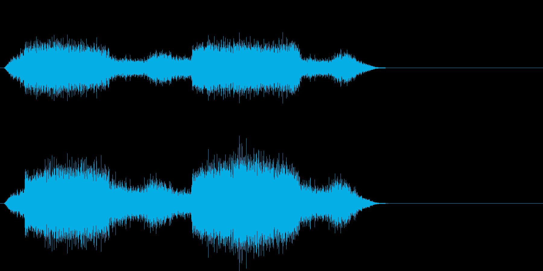 場面 港 船の再生済みの波形