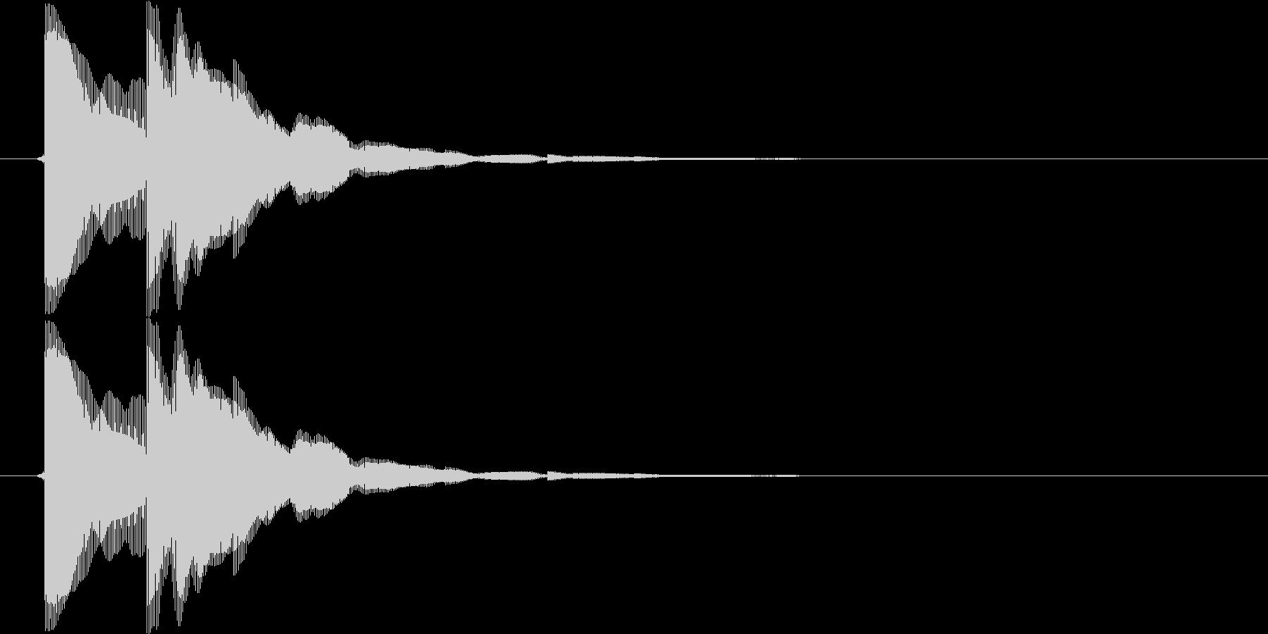 ピコン(矢印、目的地、単発、注目)の未再生の波形