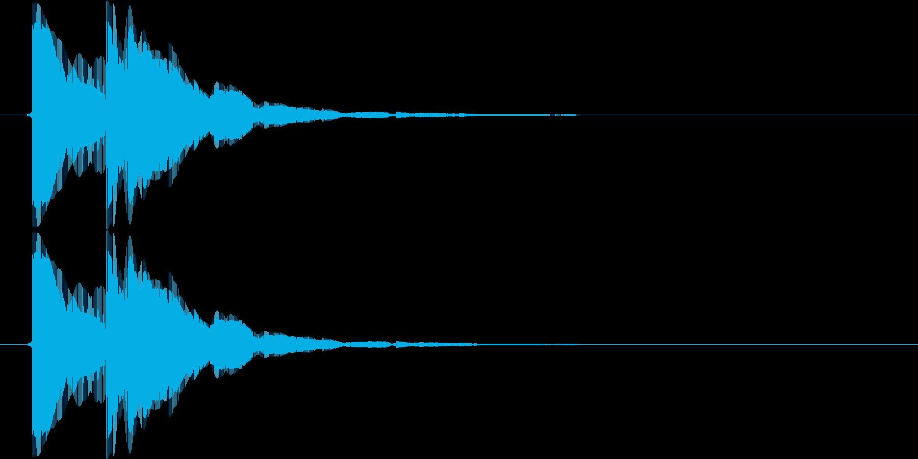 ピコン(矢印、目的地、単発、注目)の再生済みの波形