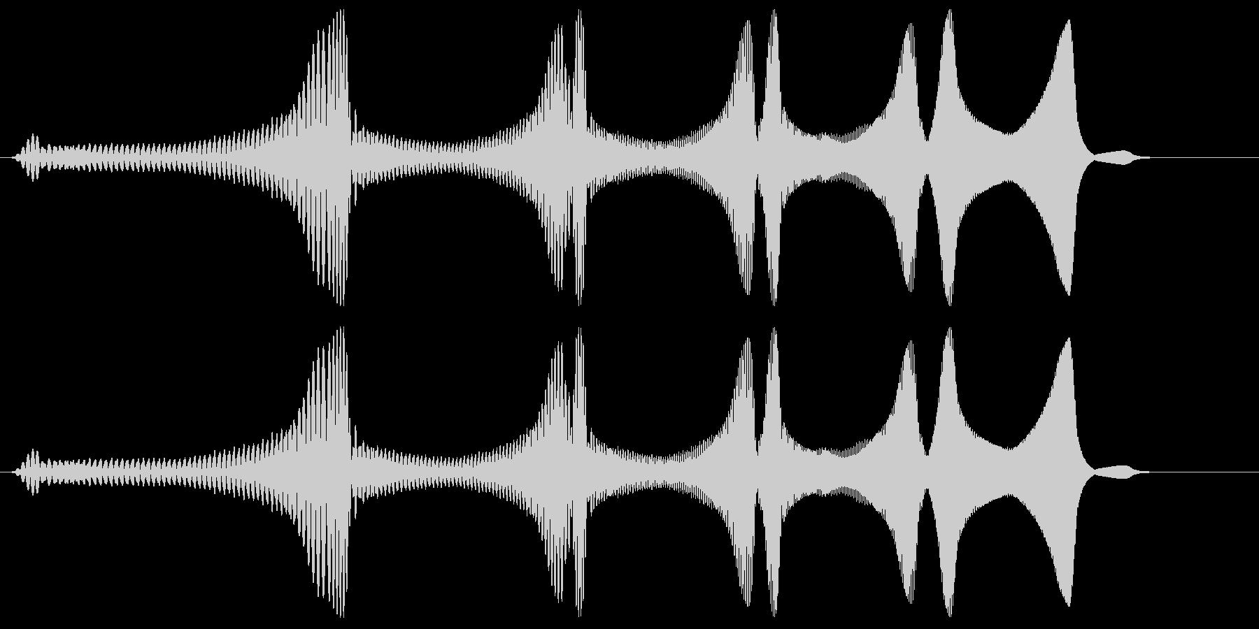 ワァワァワァーン(コミカル)の未再生の波形