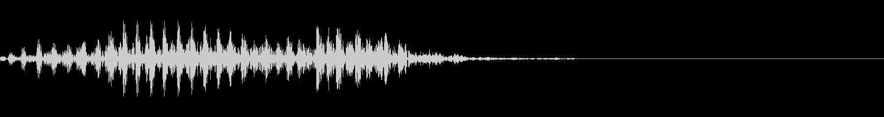 ゾンビなどのうめき声 2の未再生の波形