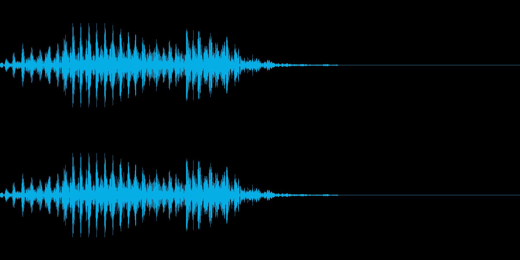 ゾンビなどのうめき声 2の再生済みの波形