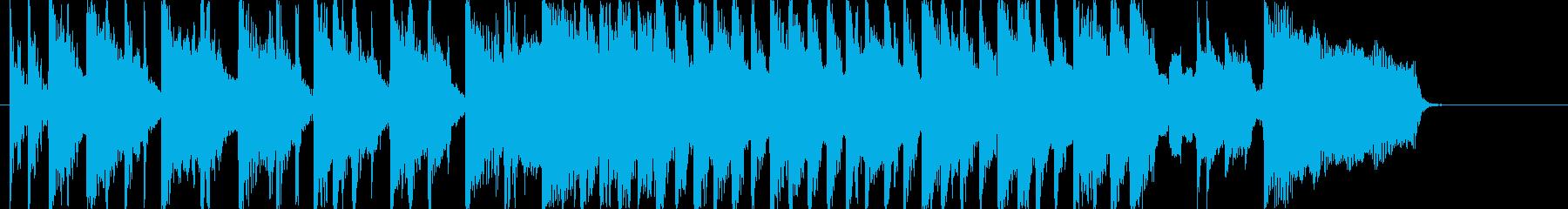 ビートルズ風ミドルロック音源の再生済みの波形