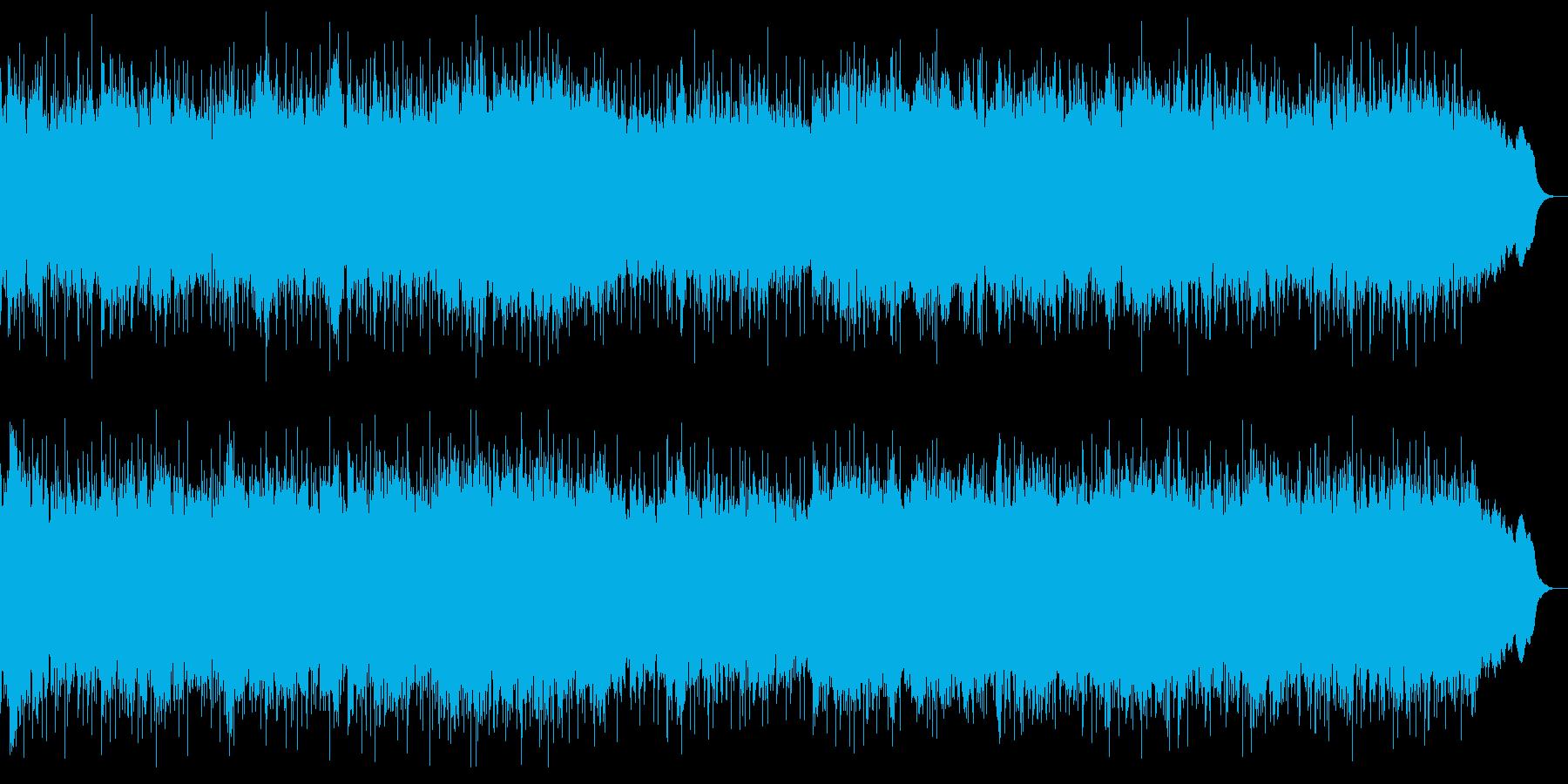 ダークな戦闘曲 ヘビーメタルのインストの再生済みの波形