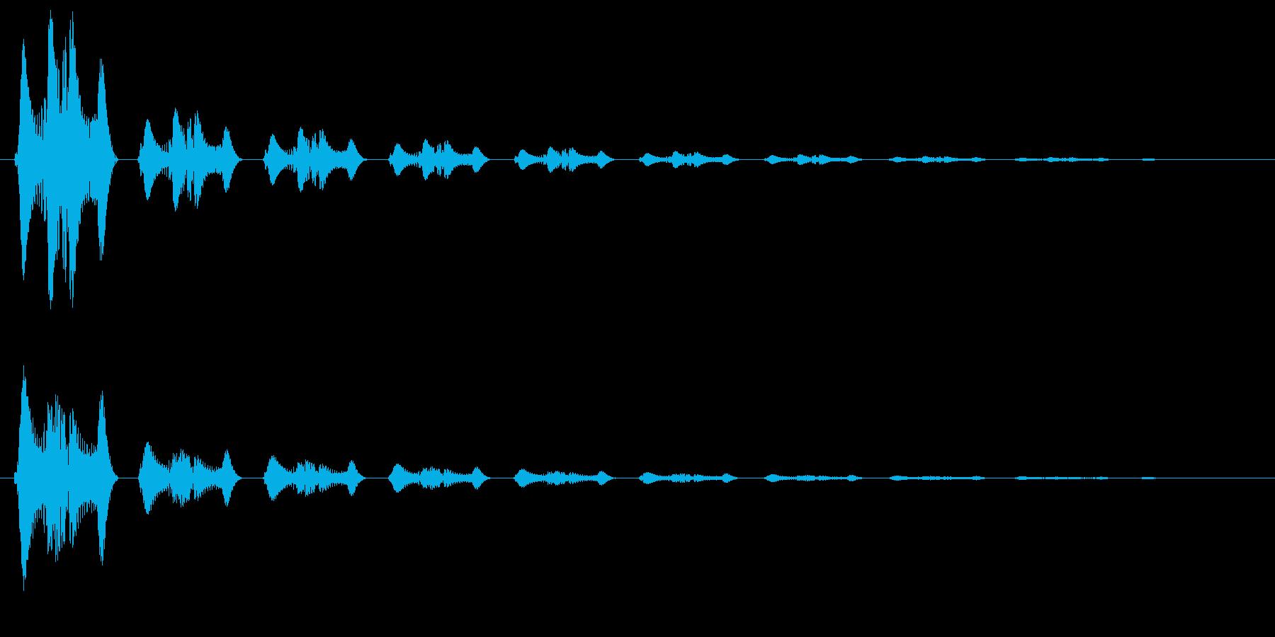 キュピーン(光が弾け飛ぶような決定音)の再生済みの波形
