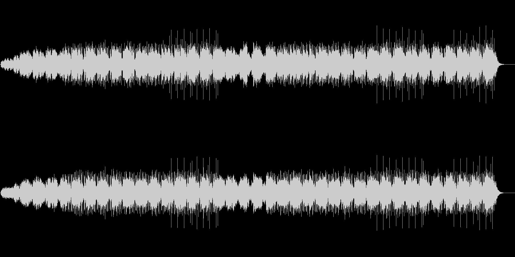 機械仕掛けな日常を表したテクノポップの未再生の波形
