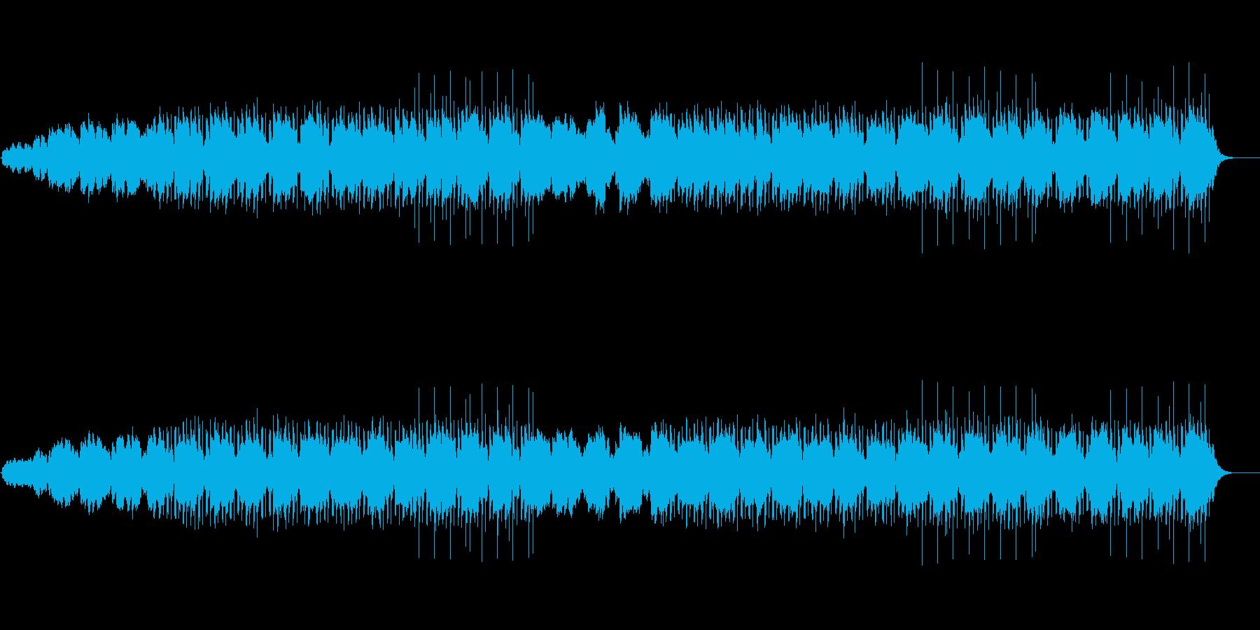 機械仕掛けな日常を表したテクノポップの再生済みの波形