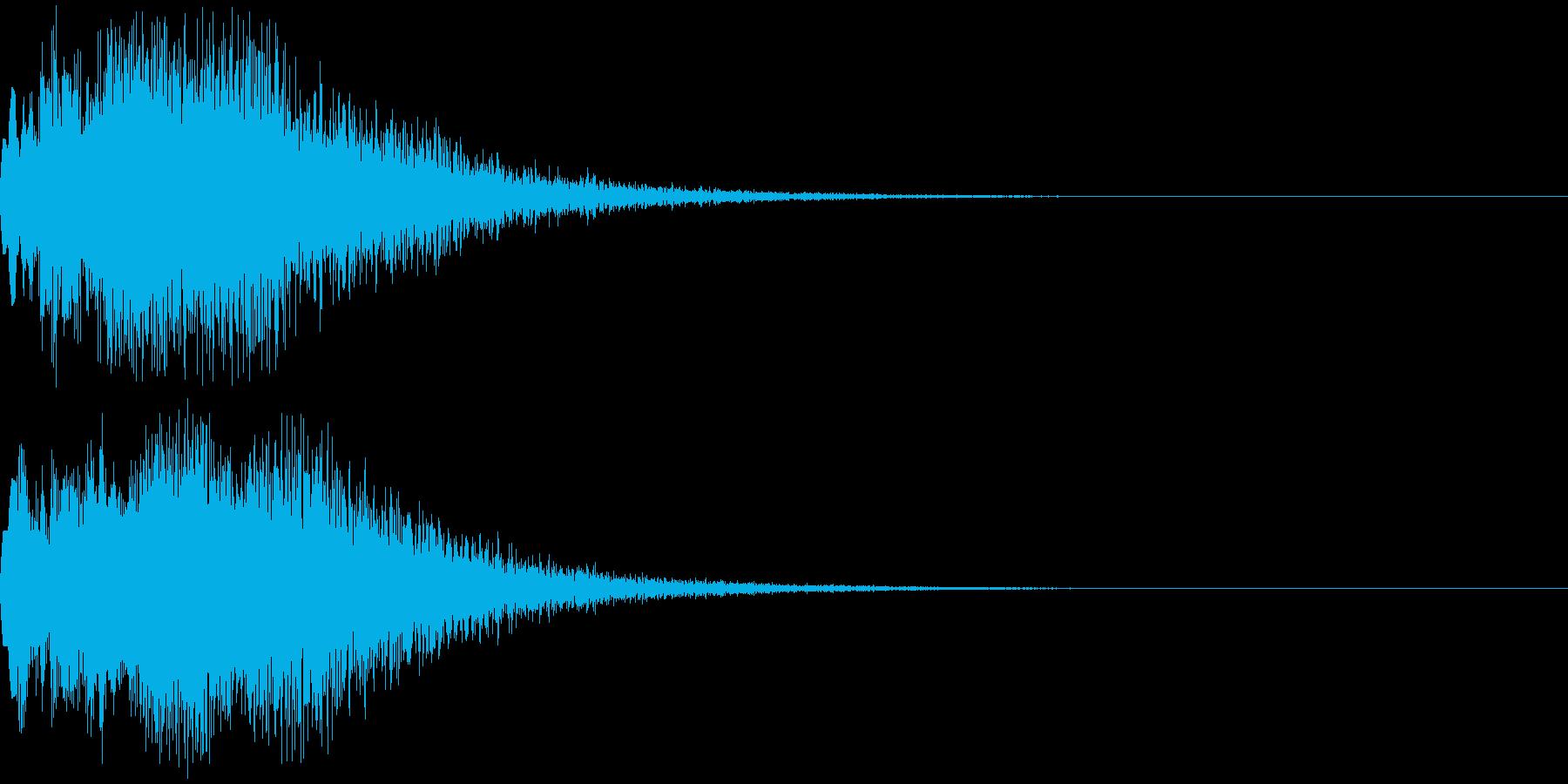 チャララララララーンの再生済みの波形