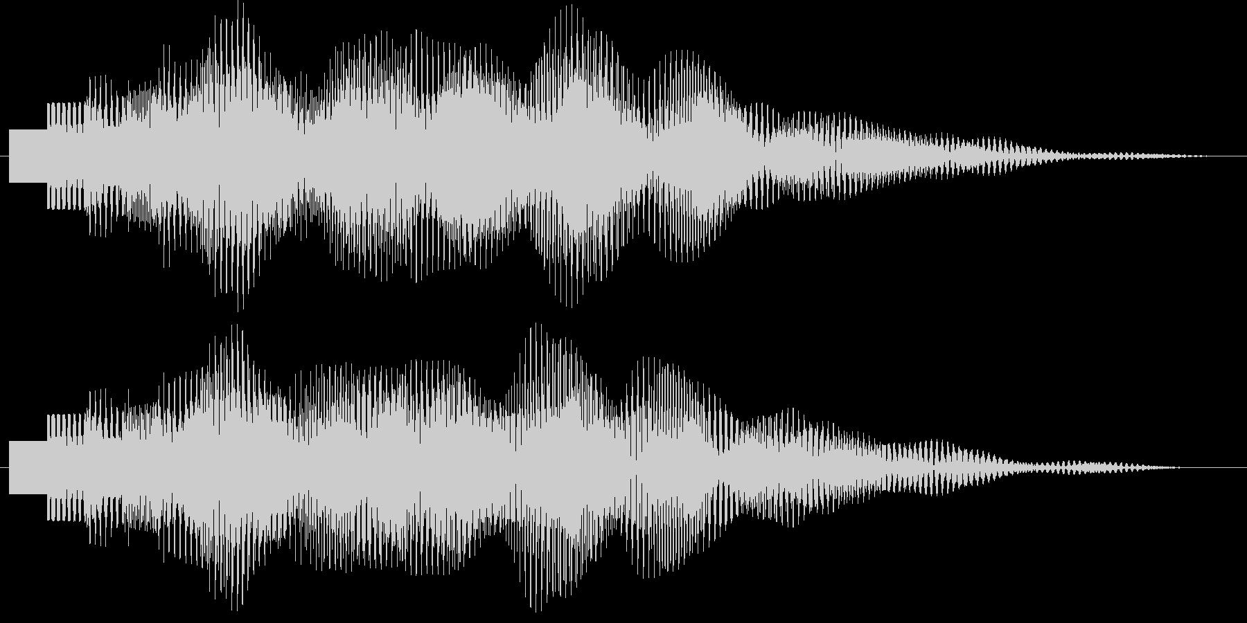 ポロリローン(デジタルチャイム)の未再生の波形