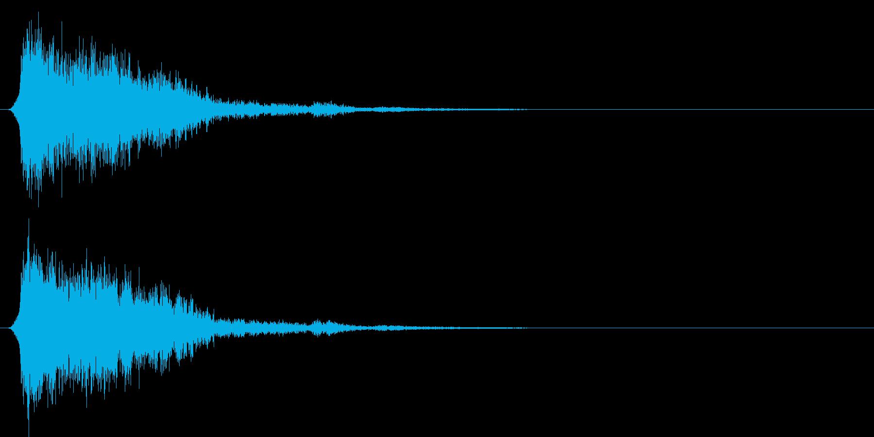 コミカルなダッシュ!ジャンプの効果音04の再生済みの波形