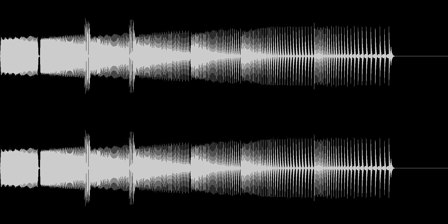 ゲームオーバーの音(ぴゅぴゅぴゅ⤵️)の未再生の波形
