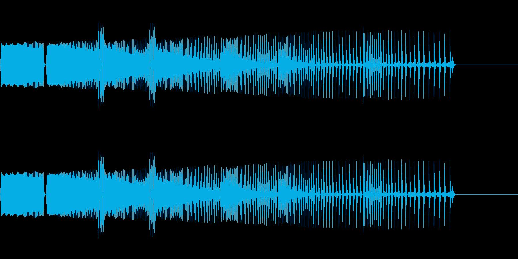 ゲームオーバーの音(ぴゅぴゅぴゅ⤵️)の再生済みの波形
