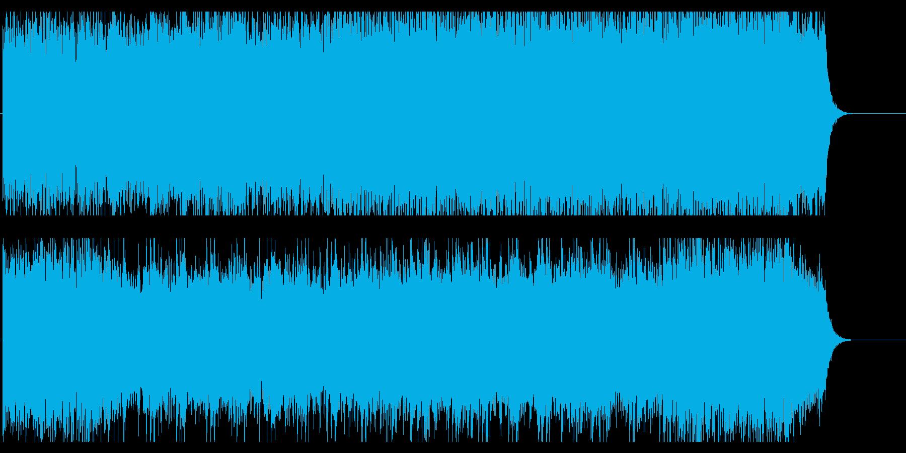 壮大な自然を思わせるオーケストラBGMの再生済みの波形