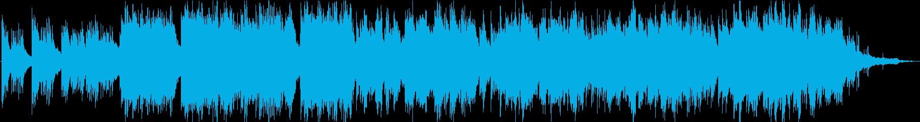 弦とピアノのゆったりとしたオーケストラの再生済みの波形