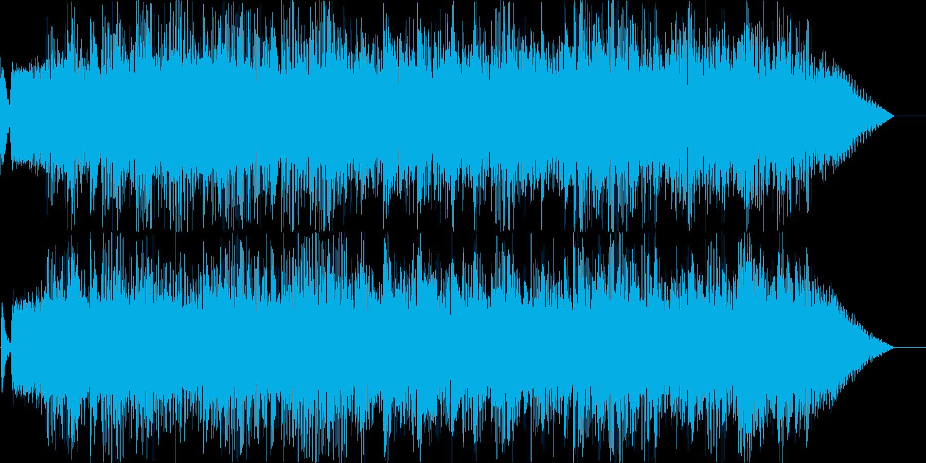 ロックテイストのBGMの再生済みの波形