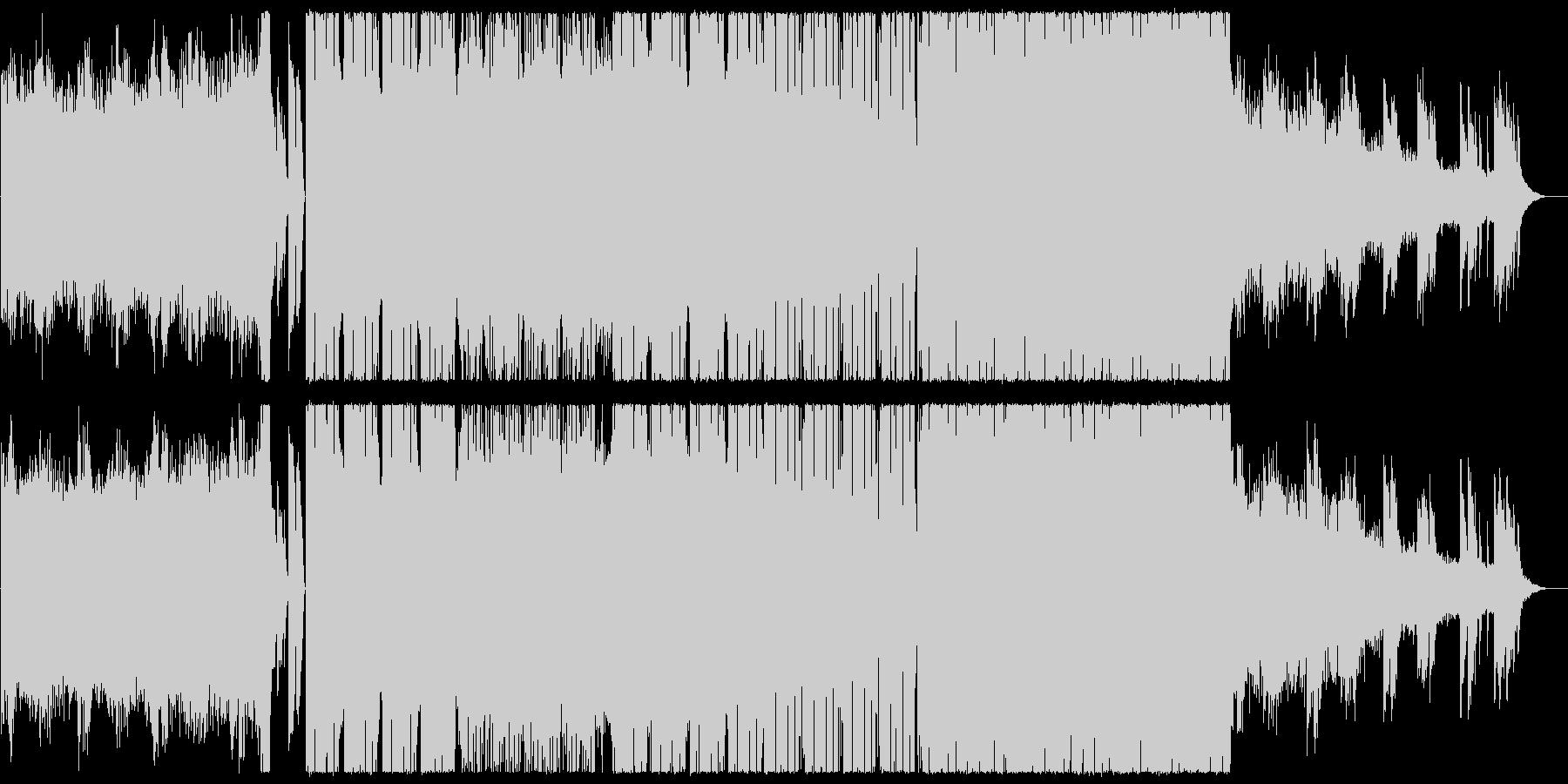 幻想的で疾走感のあるピアノエレクトロニカの未再生の波形