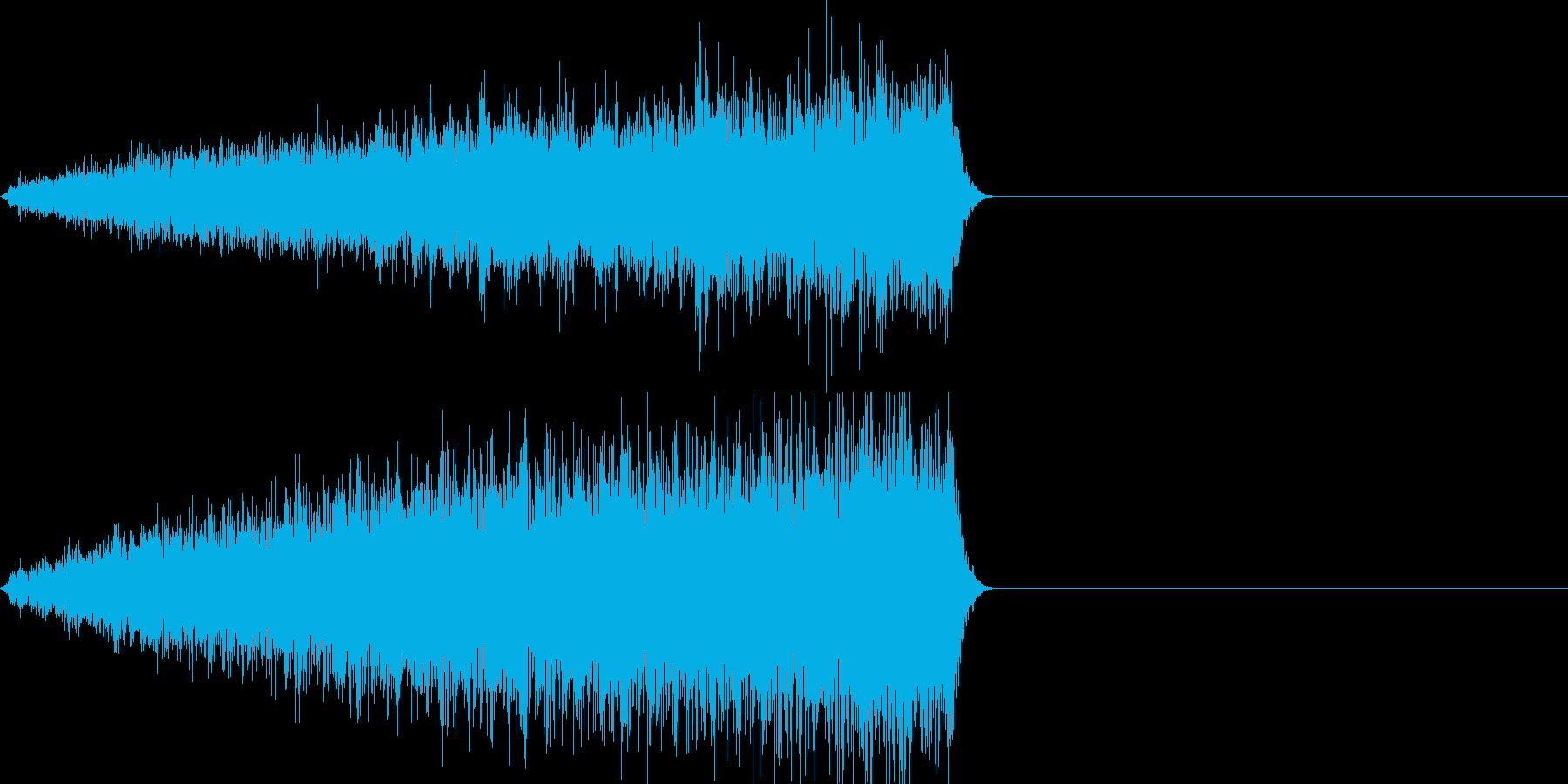 映画向け効果音15の再生済みの波形