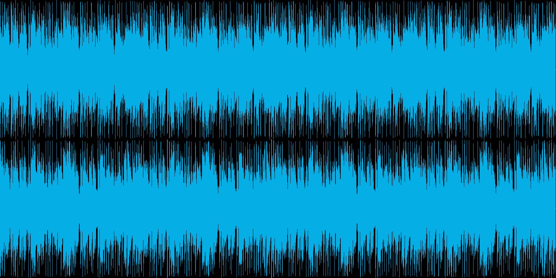 キラキラ元気でかわいらしさのある楽曲の再生済みの波形