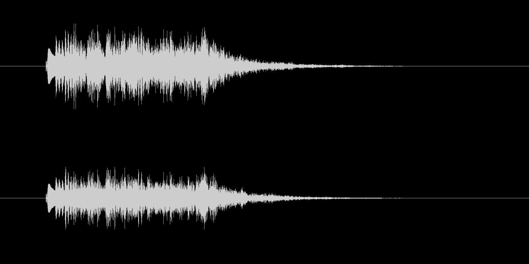 美しく透明感のある登場音(CM、番組)の未再生の波形