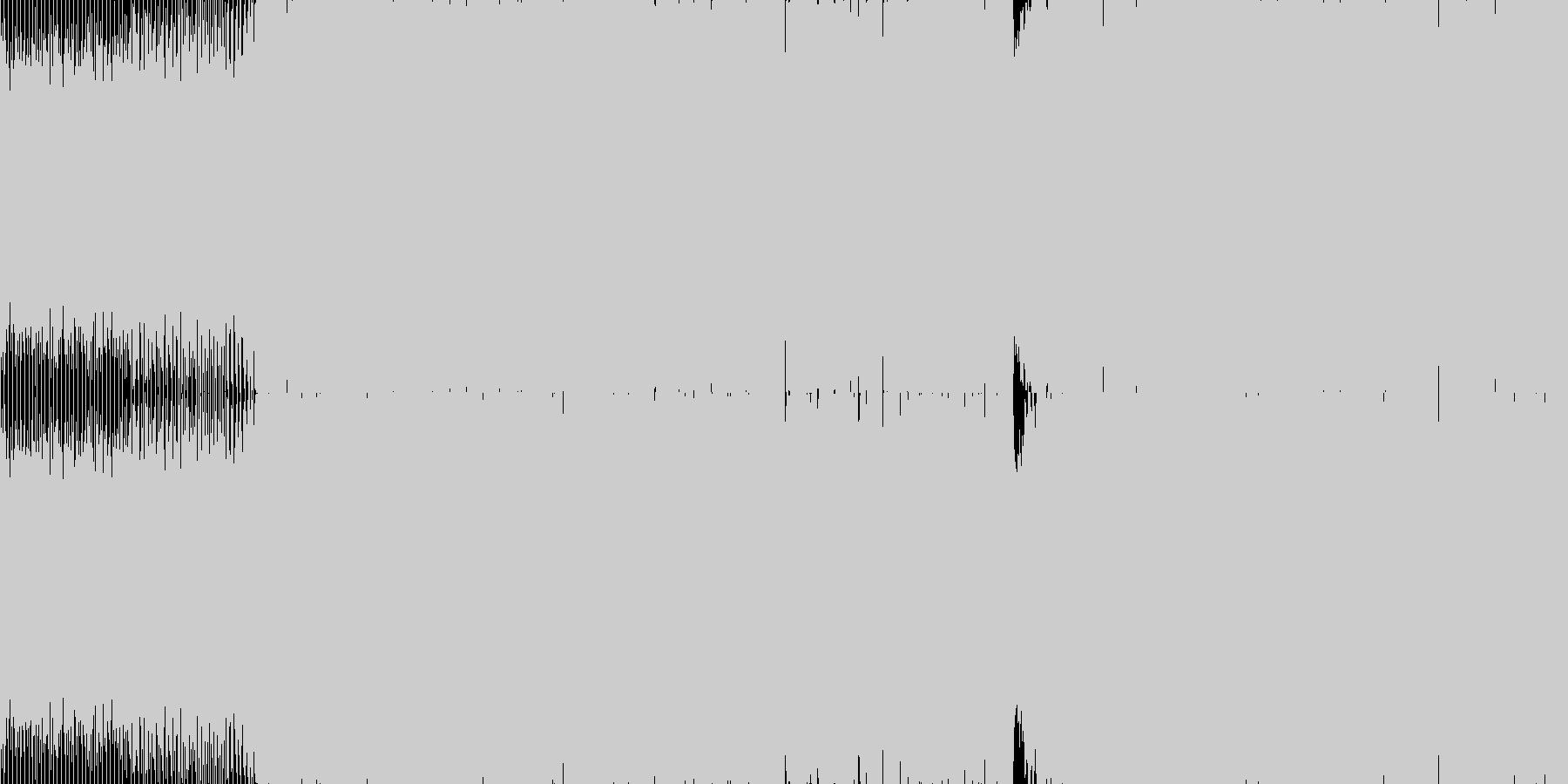 不気味なテクノサウンドの未再生の波形