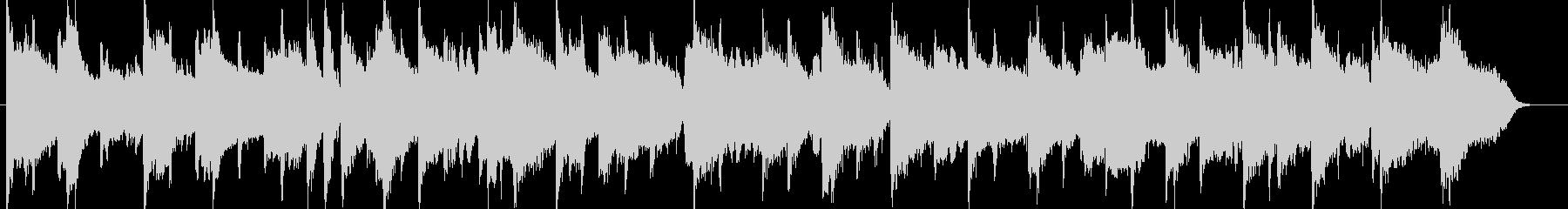 ピアノによる穏やかなイージーリスニングの未再生の波形