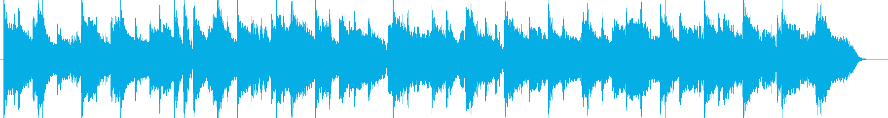 ピアノによる穏やかなイージーリスニングの再生済みの波形