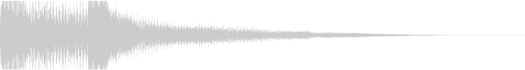 不吉な予感(ピアノ音)の未再生の波形