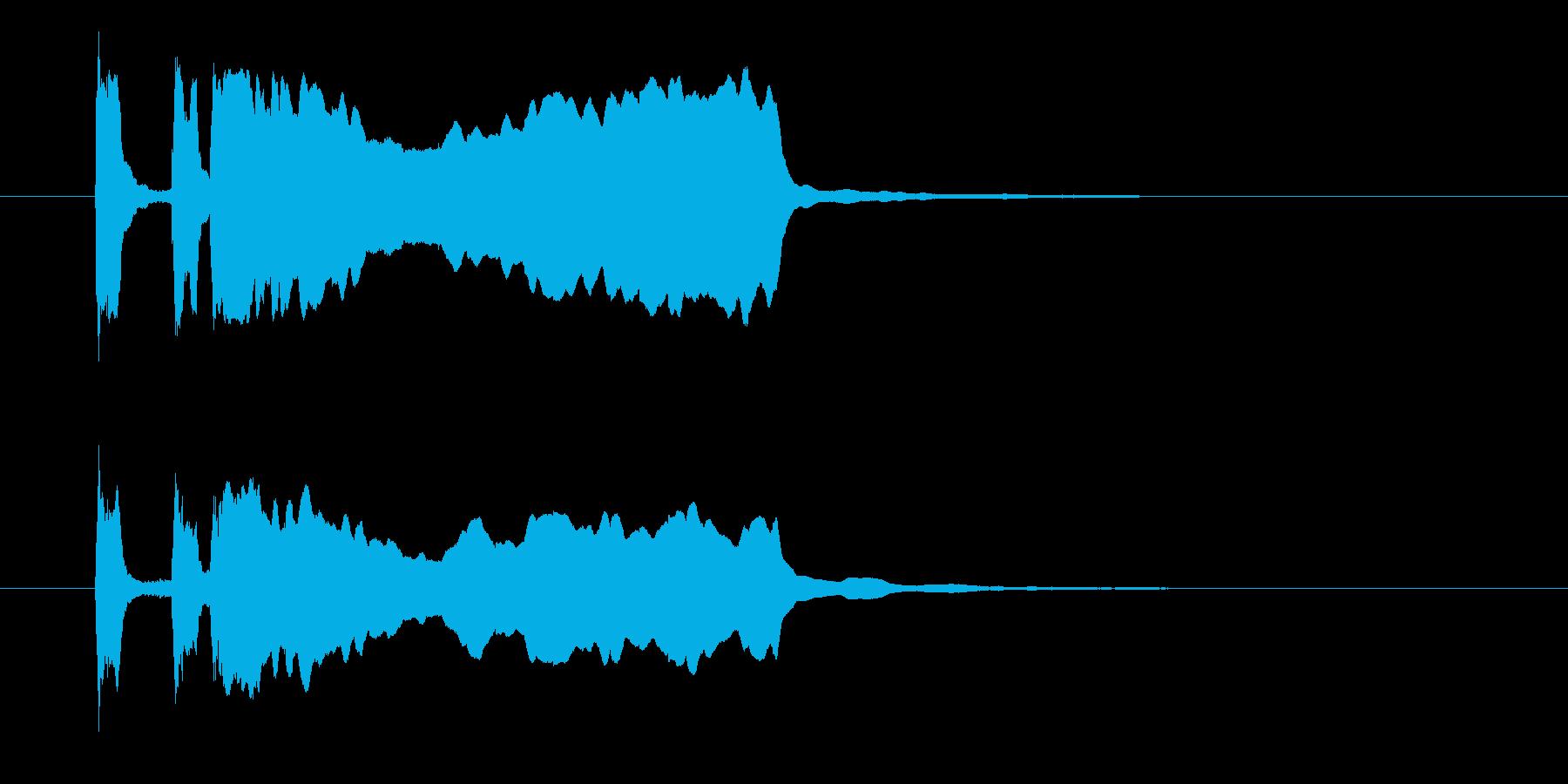 パッパパーンという晴れやかな音の再生済みの波形