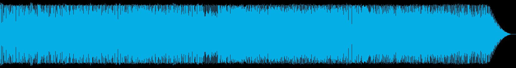 インストのブラスロック-軽快な3連符の再生済みの波形