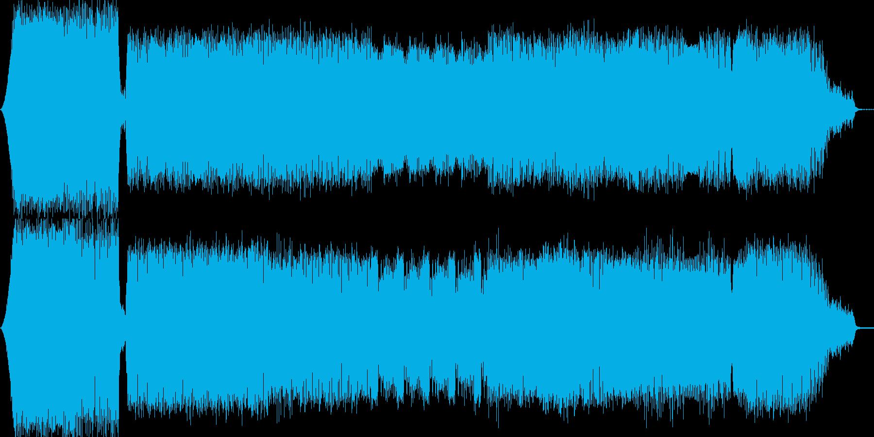 かっこいいテクノミュージックの再生済みの波形
