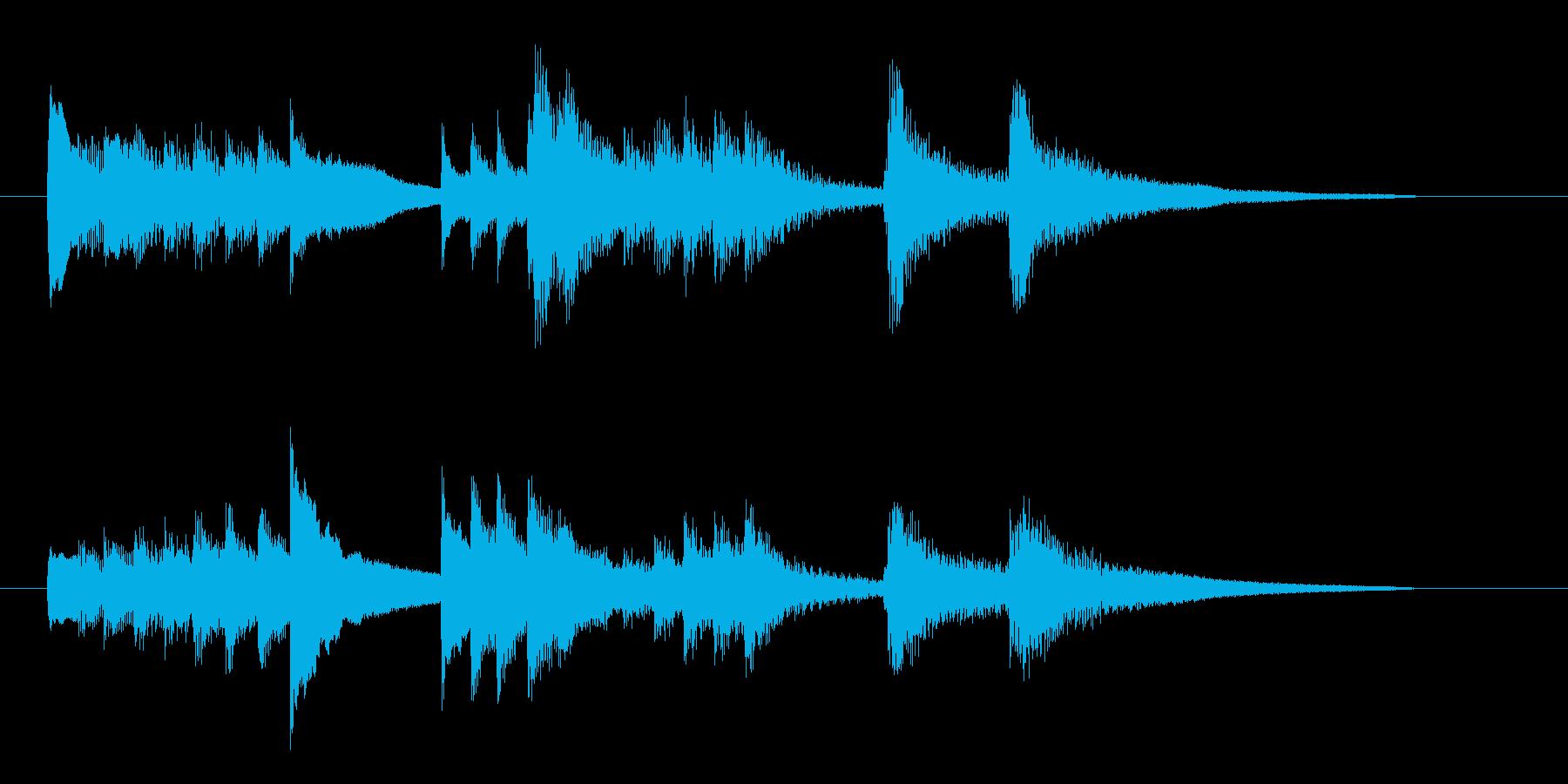 ピアノによるバラード的なジングル曲の再生済みの波形