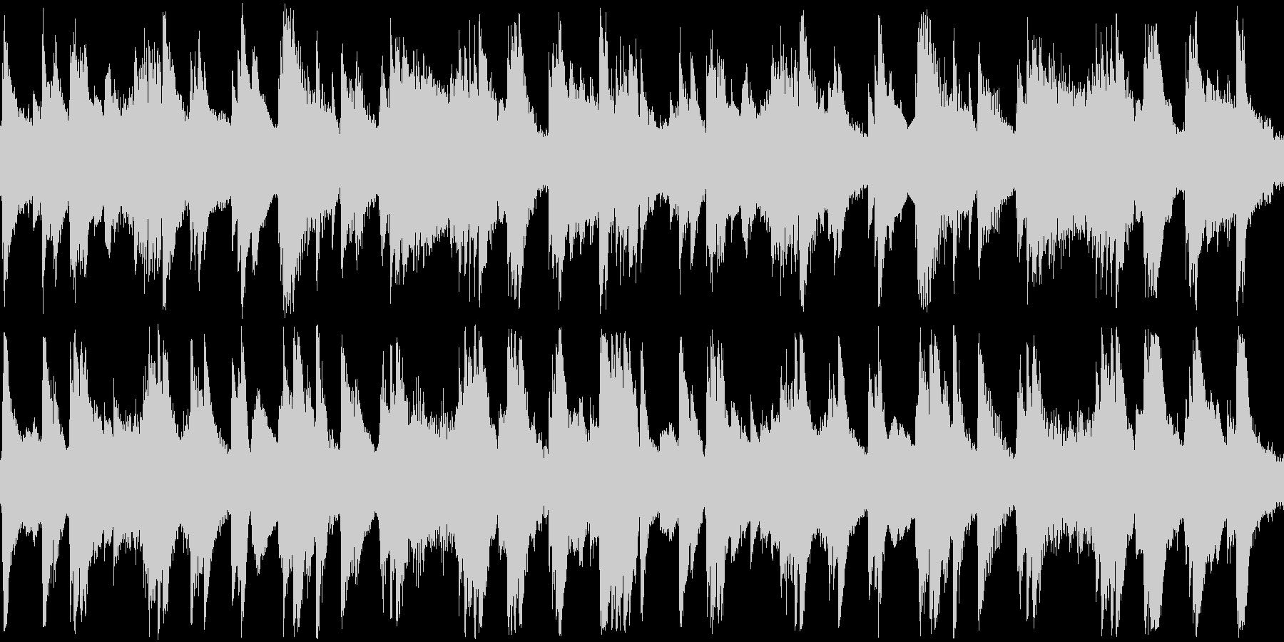 柔らかで穏やかなピアノソロ曲の未再生の波形