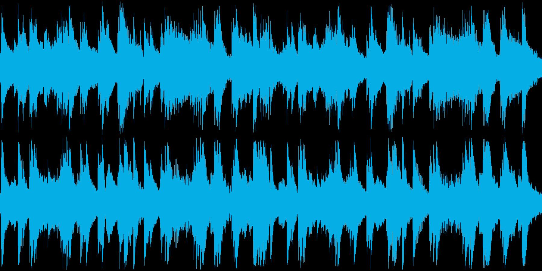 柔らかで穏やかなピアノソロ曲の再生済みの波形