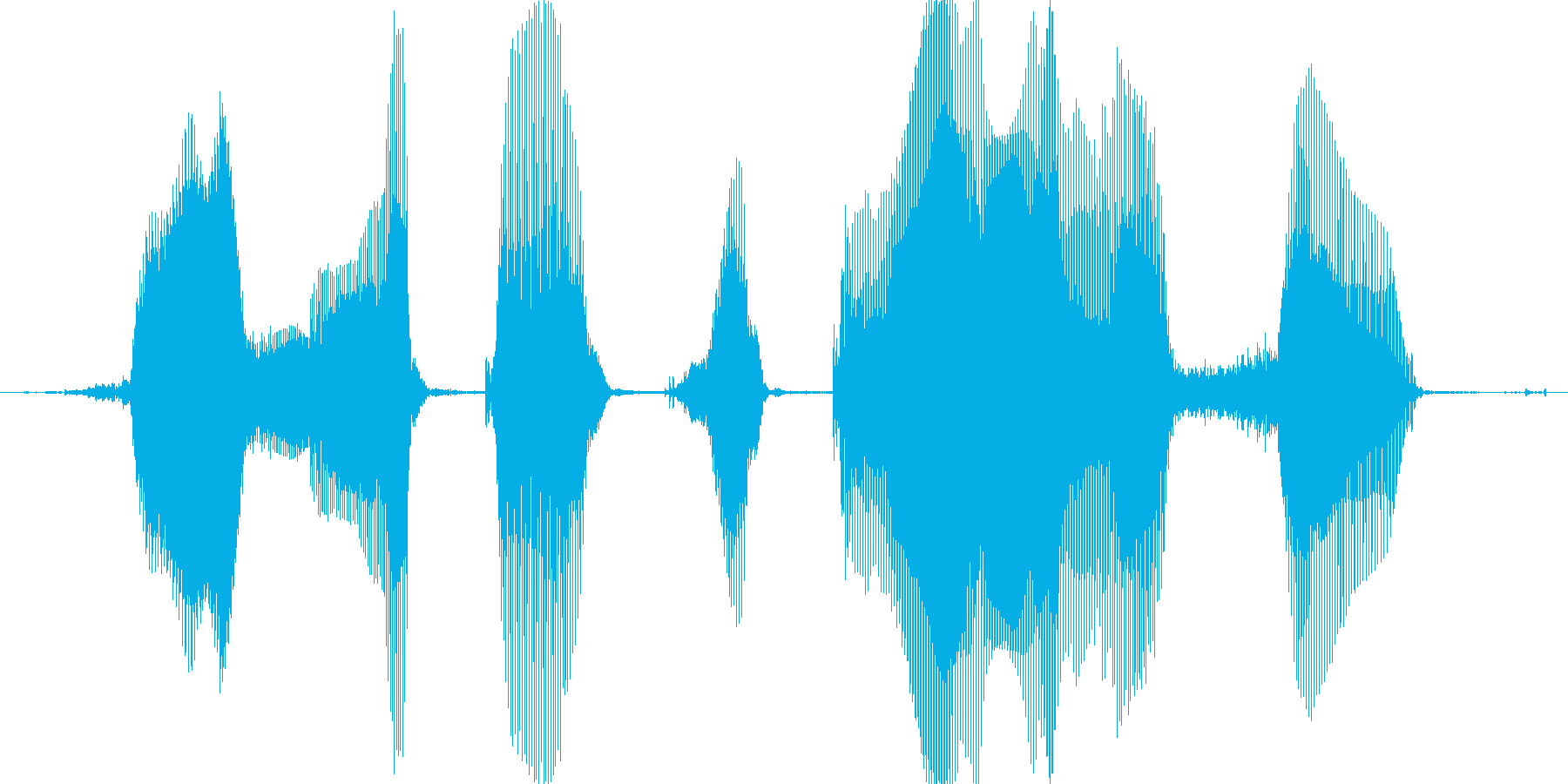 ほめてつかわすの再生済みの波形