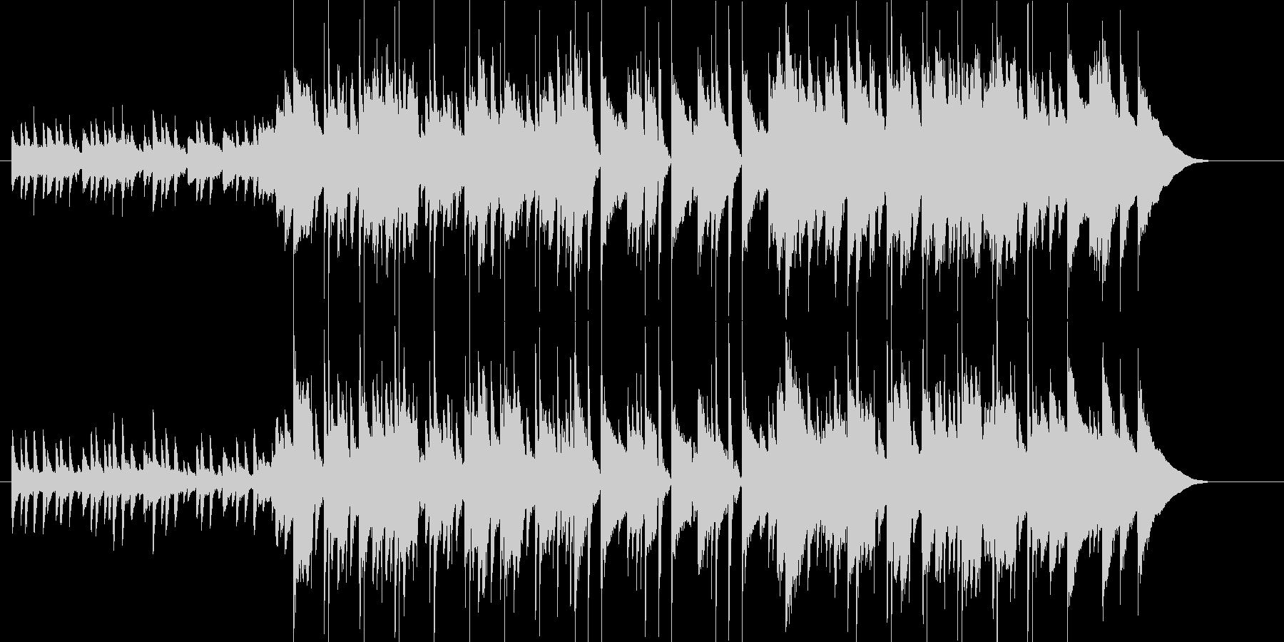 落ち着いて充実した雰囲気のピアノBGMの未再生の波形