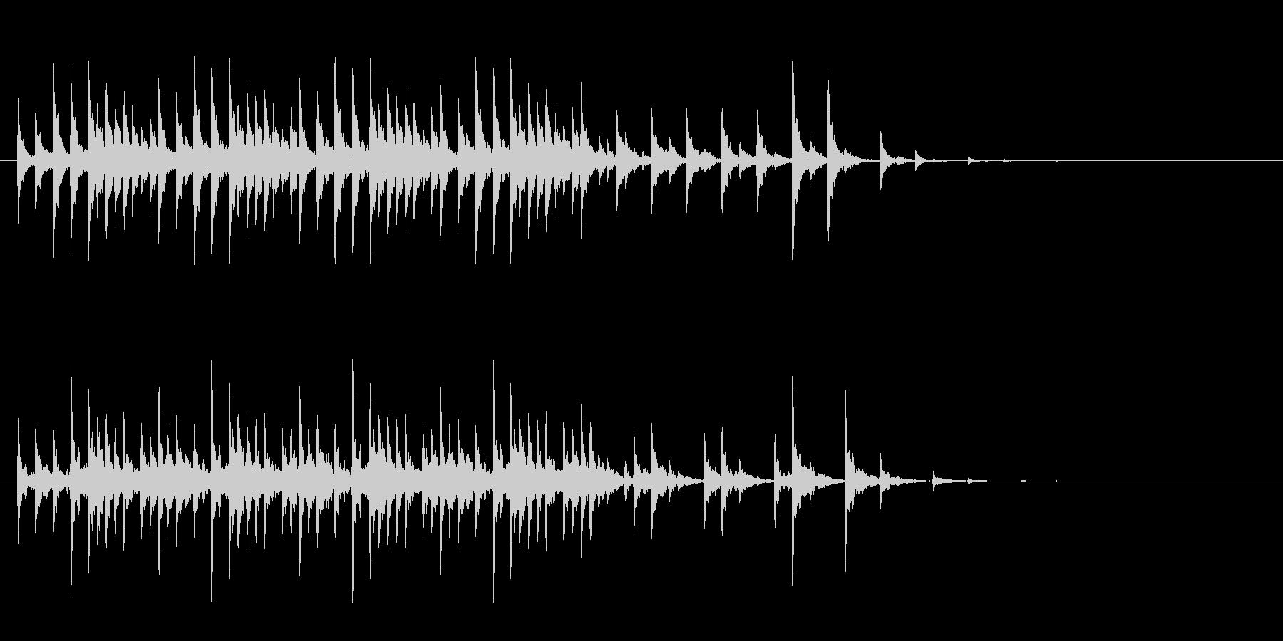 幸せのポップスの未再生の波形