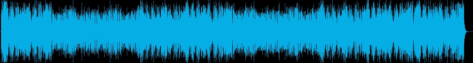爽やかなシンセ・ドラムなどポップサウンドの再生済みの波形