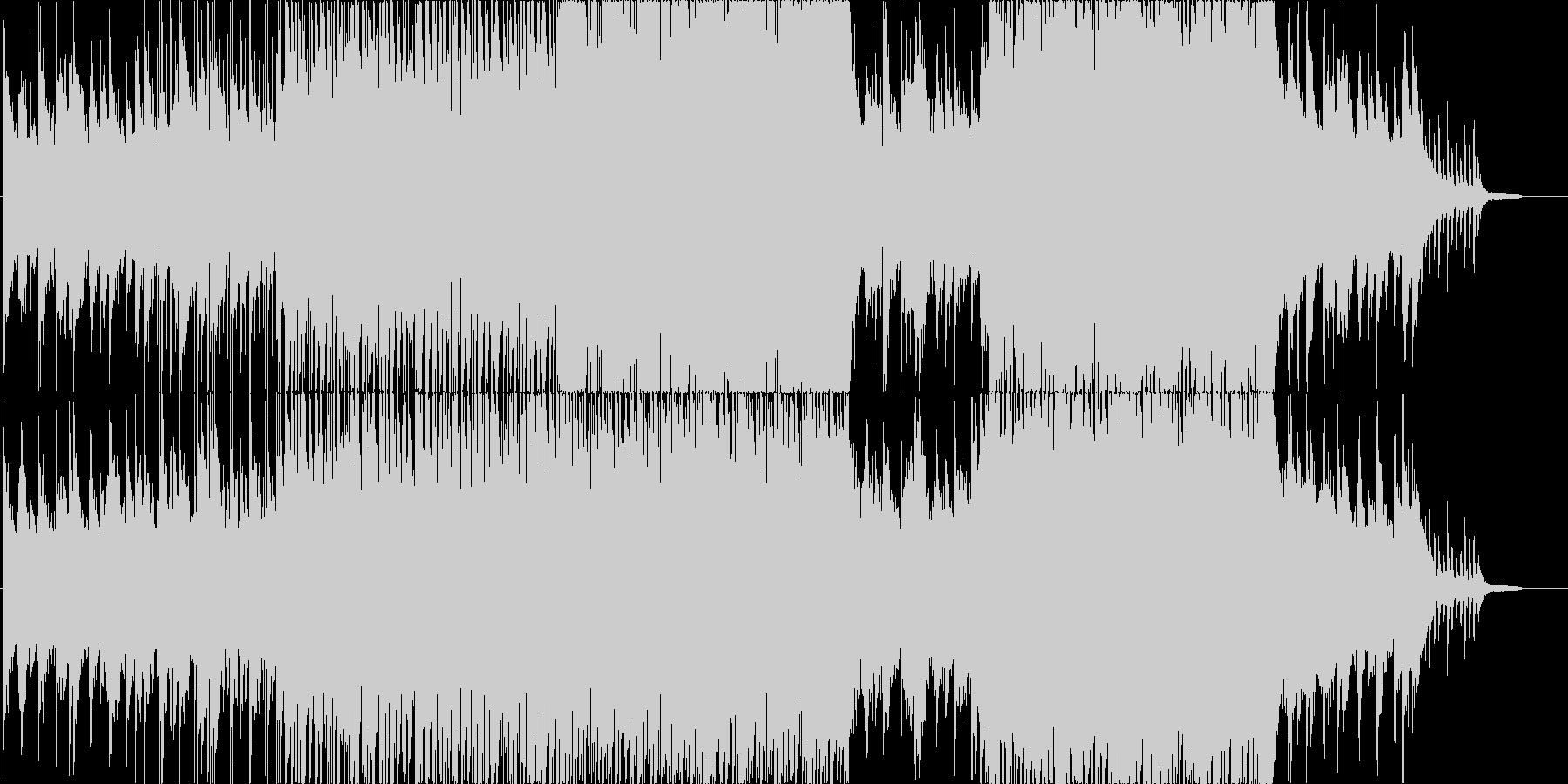 ピアノとストリングの明るい曲、映像等にの未再生の波形