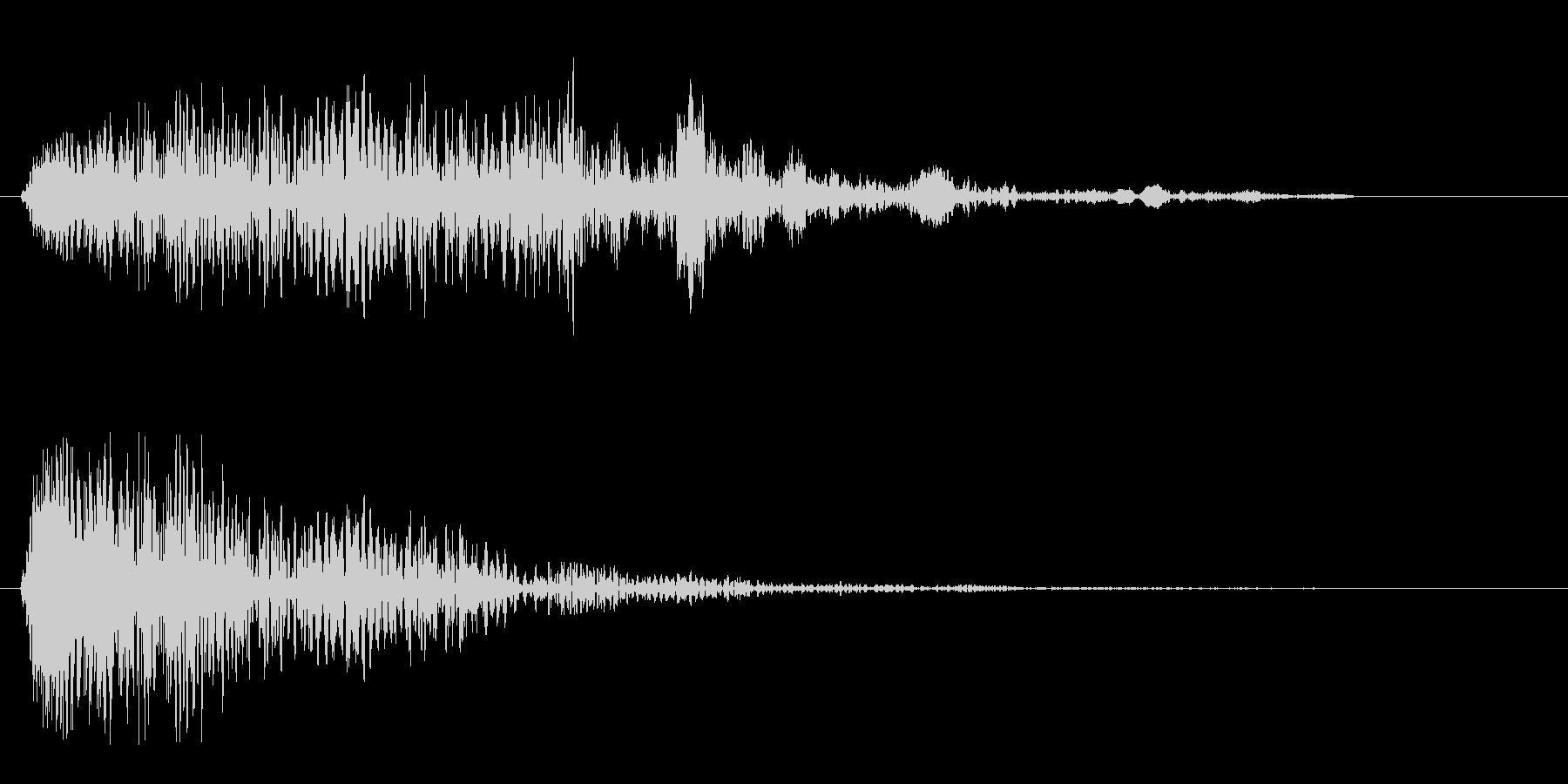 ヒュゥゥゥンというスピード音の未再生の波形