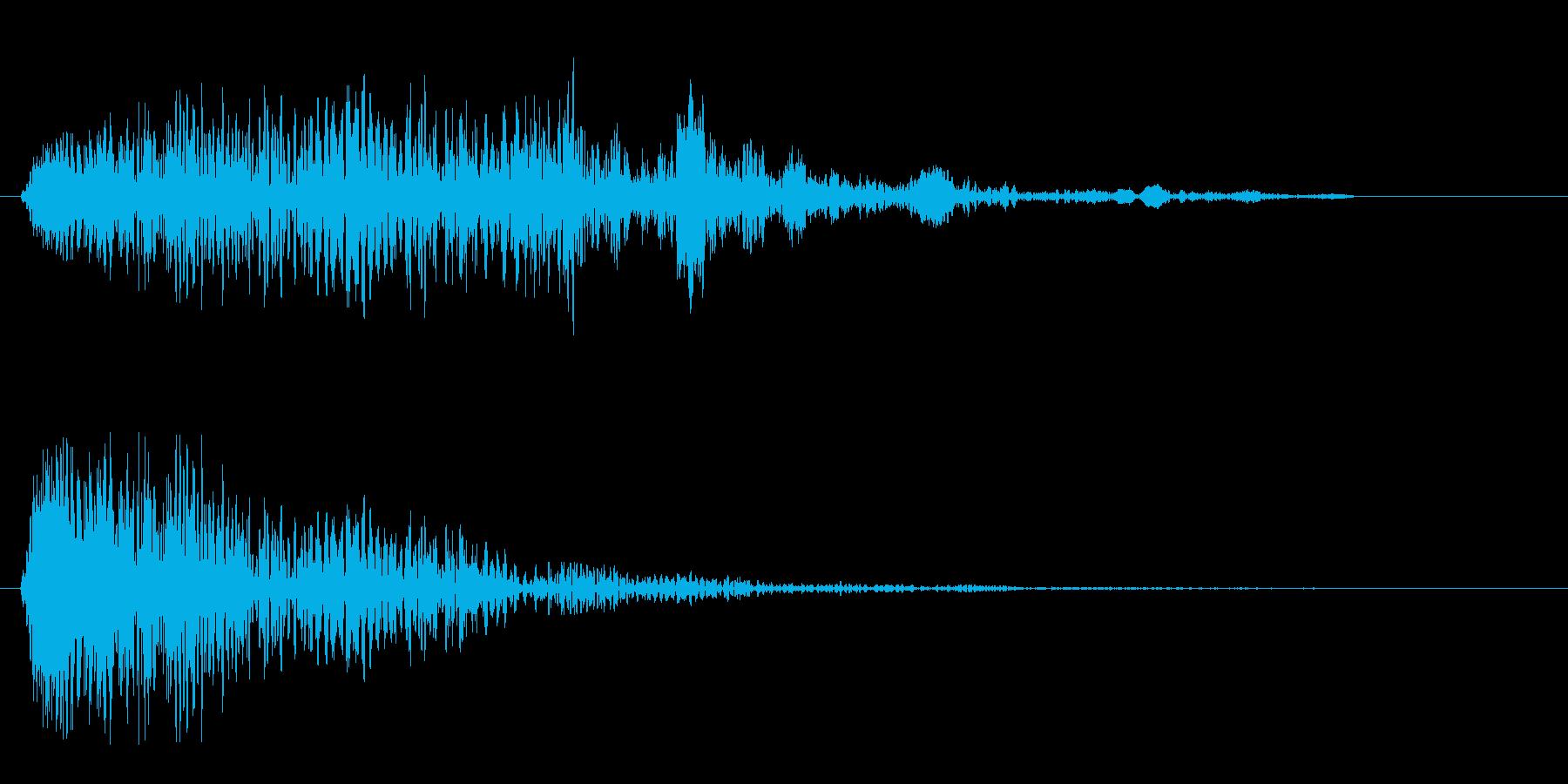 ヒュゥゥゥンというスピード音の再生済みの波形