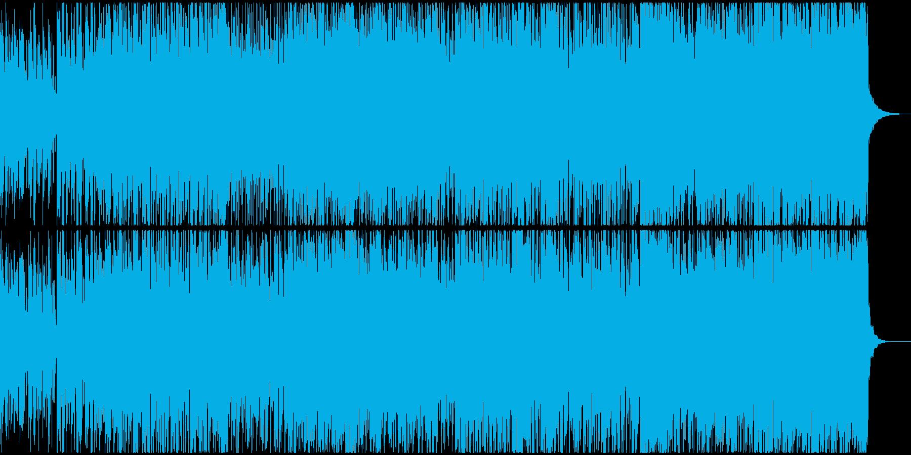 グルービーなクリーンギターの再生済みの波形