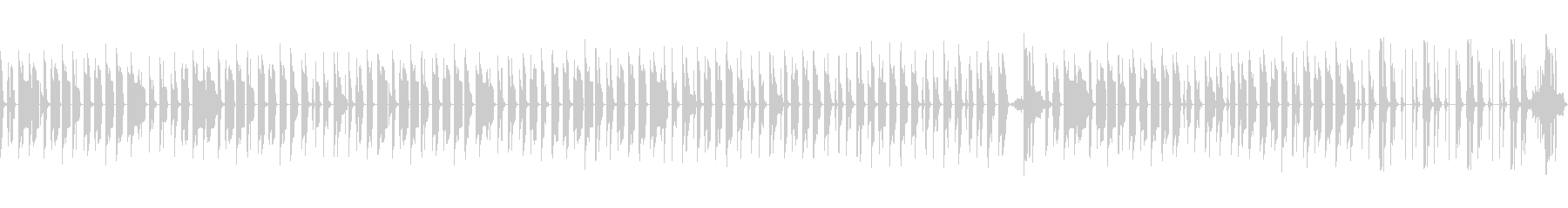 後半が印象的なのんびりBGM(ループ)の未再生の波形